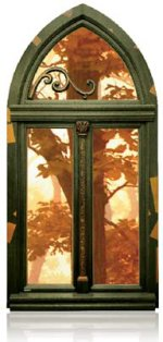 Okno drewniane retro